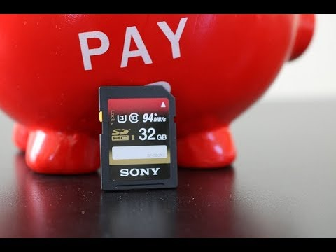 Sony SDHC UHS-I 32GB memory card unboxing