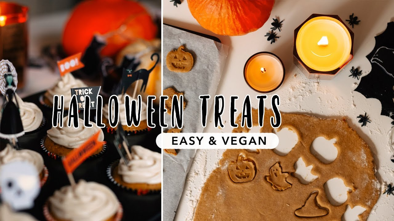 vegan halloween treats | cupcakes, pumpkin spice latte & cookies