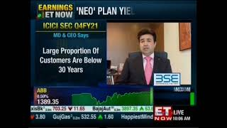 Mr. Vijay Chandok, MD \u0026 CEO, ICICI Securities, discusses the company's Q4 performance on ET Now