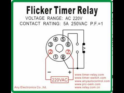 flicker timer relay afk 1 timer switch com youtube Idec Relay Base Idec Relay Wiring Diagram