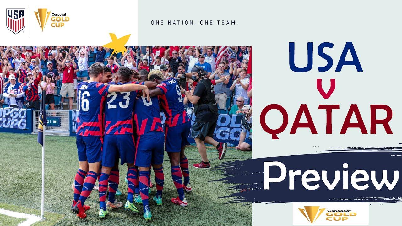 2021 Concacaf Gold Cup Semifinal: USA vs Qatar - Starting XI ...