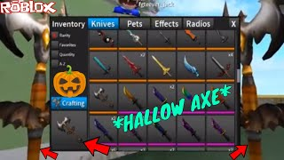 IL HALLOW AXE! E'S INSANE (ROBLOX ASSASSIN HALLOW AXE BORROWING GAMEPLAY!)