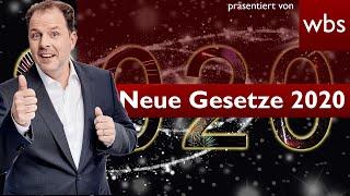 Neue Gesetze 2020 - 10 Dinge die sich ändern! | Rechtsanwalt Christian Solmecke
