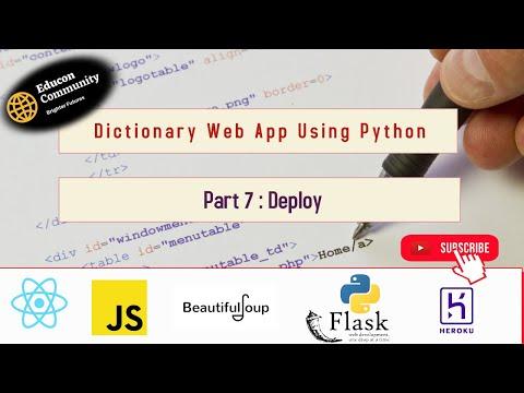 Dictionary Web App Part 7  || Educon Community