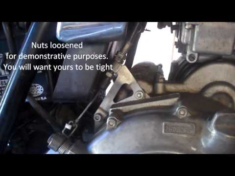 How to adjust a motorcycle clutch cable