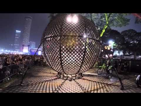 Defying Gravity! The Globe of Speed by Alex Ramien - 2016 Formula One Singapore GP