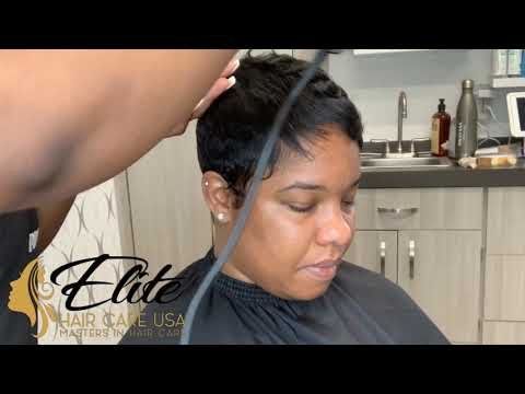 How to curl a  pixie cut | how to curl short hair
