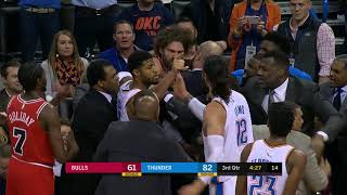 Thunder-Bulls Get in Fight, Robin Lopez Gets Ejected