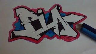 Простое граффити на бумаге#6