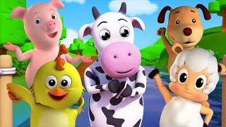 cinco pequeñas farmees   Canciones para niños   rimas para bebés   Five Little Farmees   Baby Songs