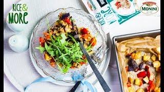Sałatka z pieczonymi warzywami i Rice&MORE 90sek.  Bulgur & quinoa