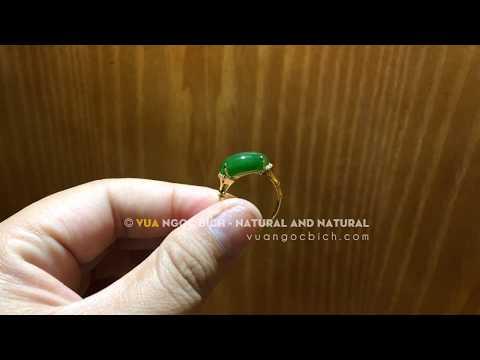 Nhẫn Vàng Mặt Ngọc Bích Cho Nữ (3825) | Jade Rings + Au (10/14/18k) - Vua Ngọc Bích