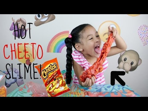 Thumbnail: DIY How To Make HOT CHEETO SLIME!!!! Super CRUNCHY Cheetos Slime!!!!