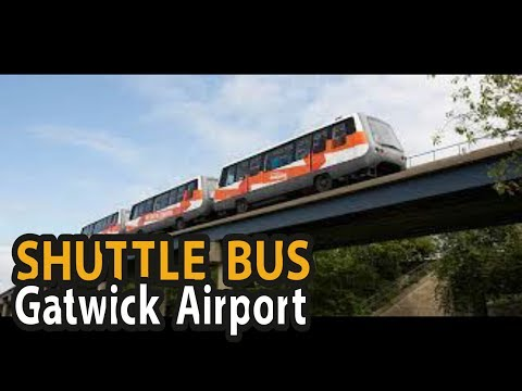 Gatwick Airport - SHUTTLE BUS from South to North Terminal 4K