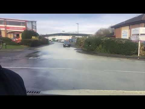 Flooding in Newport Industrial Estate