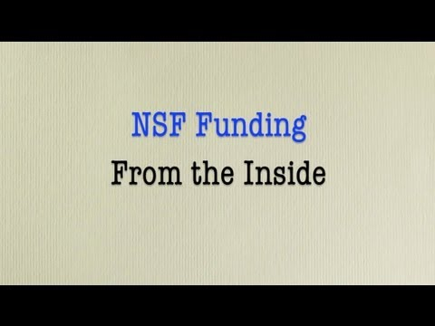 9/25/2012 NSF Funding From the Inside