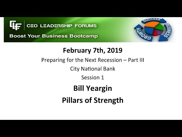 2019 02 07 CEO Leadership Session 01 Yeargin