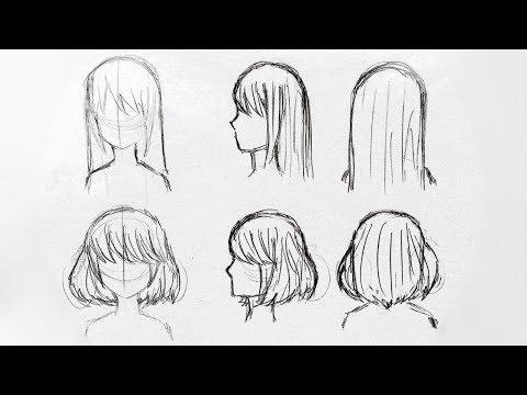 Как нарисовать мультяшные волосы