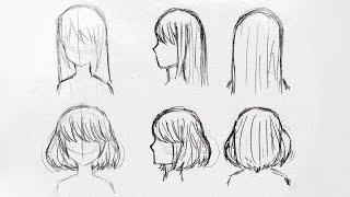 Как нарисовать женские волосы/прически