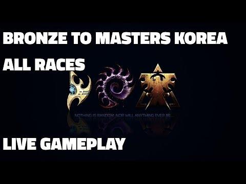 Bronze to Masters Korea! - Gold 2 to Platinum 3 (Terran, Zerg, Protoss Live Gameplay & Guide)