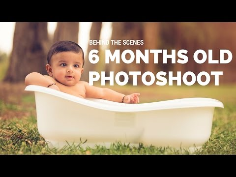 Behind the Scenes 6 Months Baby Boy Mini Photo Session