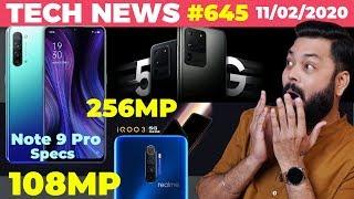Redmi Note 9 Pro Specs,realme 108MP Photo,IQOO 3 Launch Date,256MP Camera Sensor,Samsung S20-#TTN645