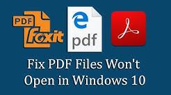 Fix PDF Files Won't Open in Windows 10