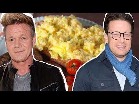 Gordon Ramsay Vs. Jamie Oliver: Whose Scrambled Eggs Are Better? | Celebrity Snackdown | Delish