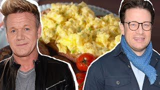 Gordon Ramsay Vs. Jamie Oliver: Whose Scrambled Eggs Are Better? | Celebrity Snackdown | Delish