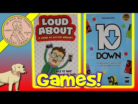 Loud About Action Memory Game & 10 Down Fast Paced Family Card Games
