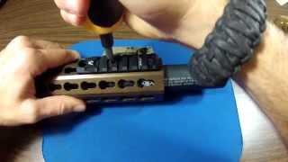 How to install a Keymod rail accessory