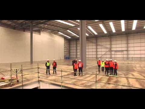Euro Car Parts Distribution Centre Build - Drone Video October 2015