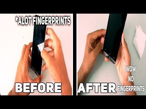 How to clean Fingerprints off a phone easily with only two things!!