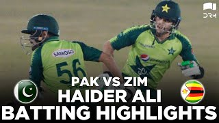Remarkable Batting By Haider Ali | Pakistan vs Zimbabwe | 2nd T20I 2020 | PCB | MD2E