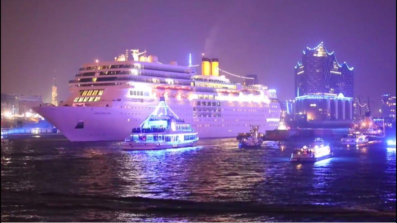Cruise Days 2015 Hamburg Fr Costa Neoromantica Feuerwerk Youtube