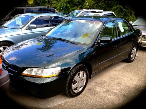 1998 Honda Accord LX 5MT Start Up, Quick Tour, & Rev With Exhaust View - 126K
