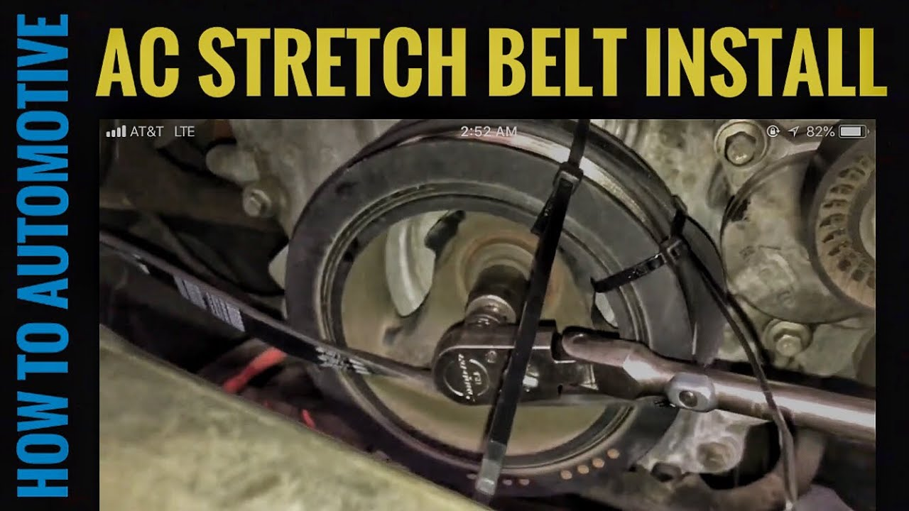 How to Replace the AC Stretch Belt on a 20112017 Ford F