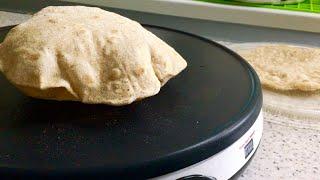 Индийский хлеб - Чапати. Лепешки из пшеничной цельнозерновой муки.