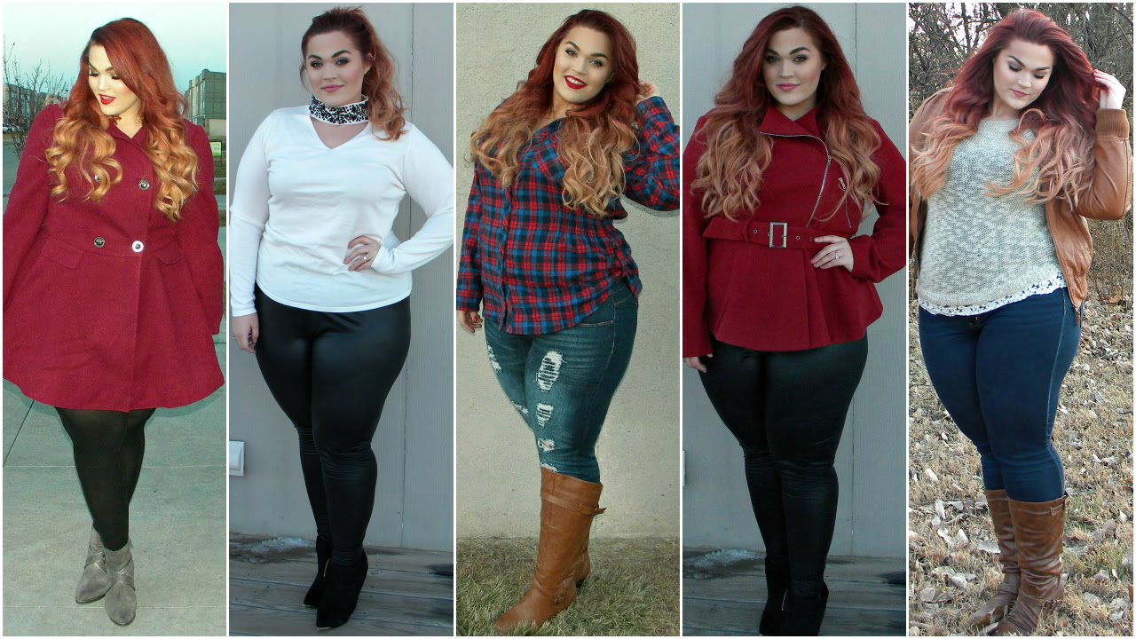 The Curvy Diaries Winter Fashion Lookbook Plus Size Youtube