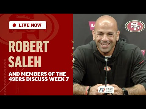 Robert Saleh and Members of the 49ers Discuss Preparations for the Patriots