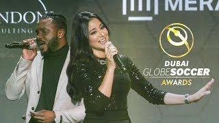 Aseel x Hamza Hawsawi at the Globe Soccer Awards