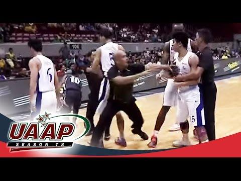 UAAP 78: Ravena gets mad after Nalos' hard foul
