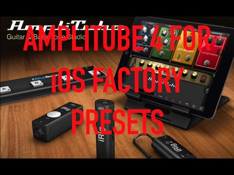 how to use amplitube presets