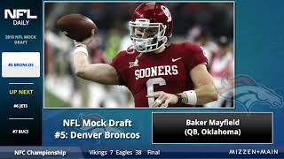 2018 NFL Mock Draft: First Round Projections Featuring Josh Rosen, Sam Darnold & Saquon Barkley