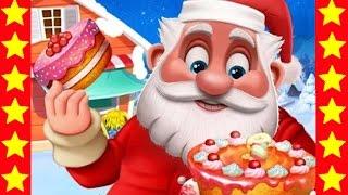 Санта Клаус готовит новогодний торт! Интересные мультики для детей. Детские новогодние мультфильмы.