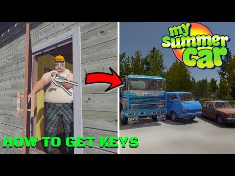 HOW TO GET KEYS To LOAN BLUE VAN AND GIFU TRUCK [GUIDE] - My Summer Car #169 | Radex