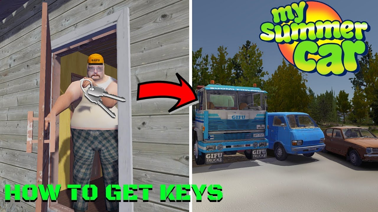 How To Get Keys To Loan Blue Van And Gifu Truck Guide My Summer Car 169 Radex