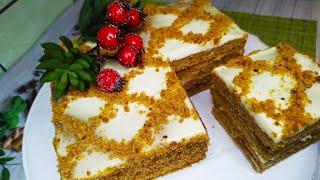 ТОРТ МЕДОВИК БЕЗ РАСКАТКИ honey cake without rolling