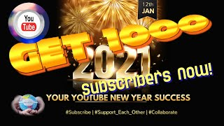 ????How To Get 1000 YouTube Subscribers Fast In 2021(YouTube Audio Library) #MaRétrospective #1KCreator