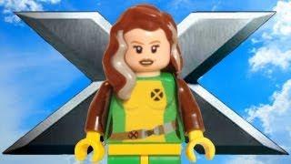 Custom LEGO Rogue X-Men Minifigure LEGO Marvel Super Heroes Review